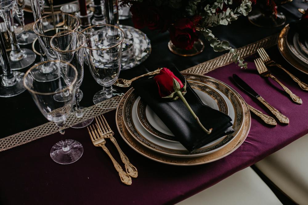 glassware cutlery plates