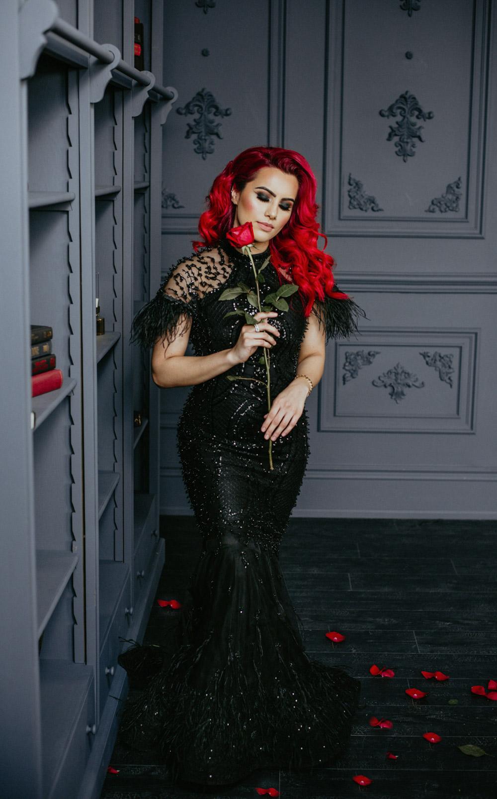 black gown elegance