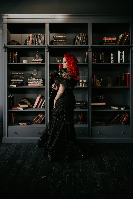 bookshelf dark longing