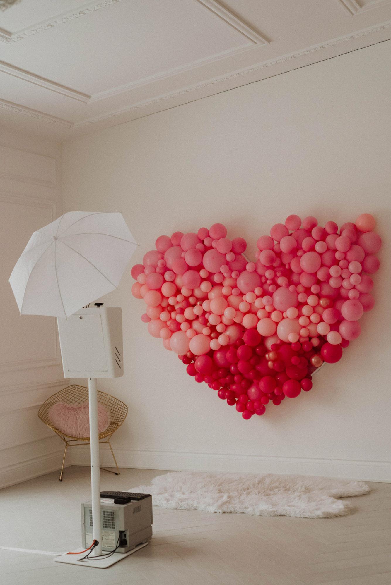 heart balloons ombre