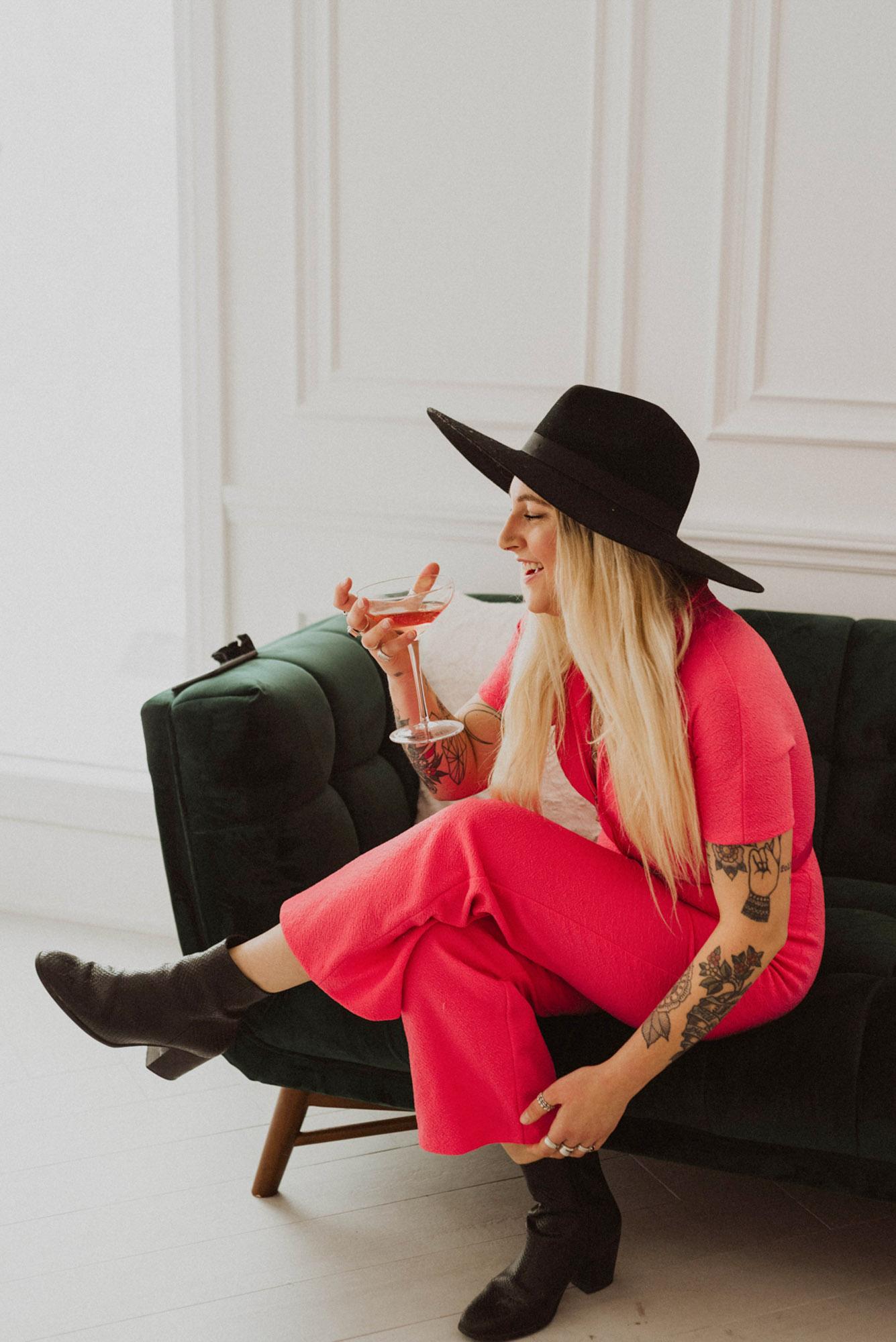 pink drink hat