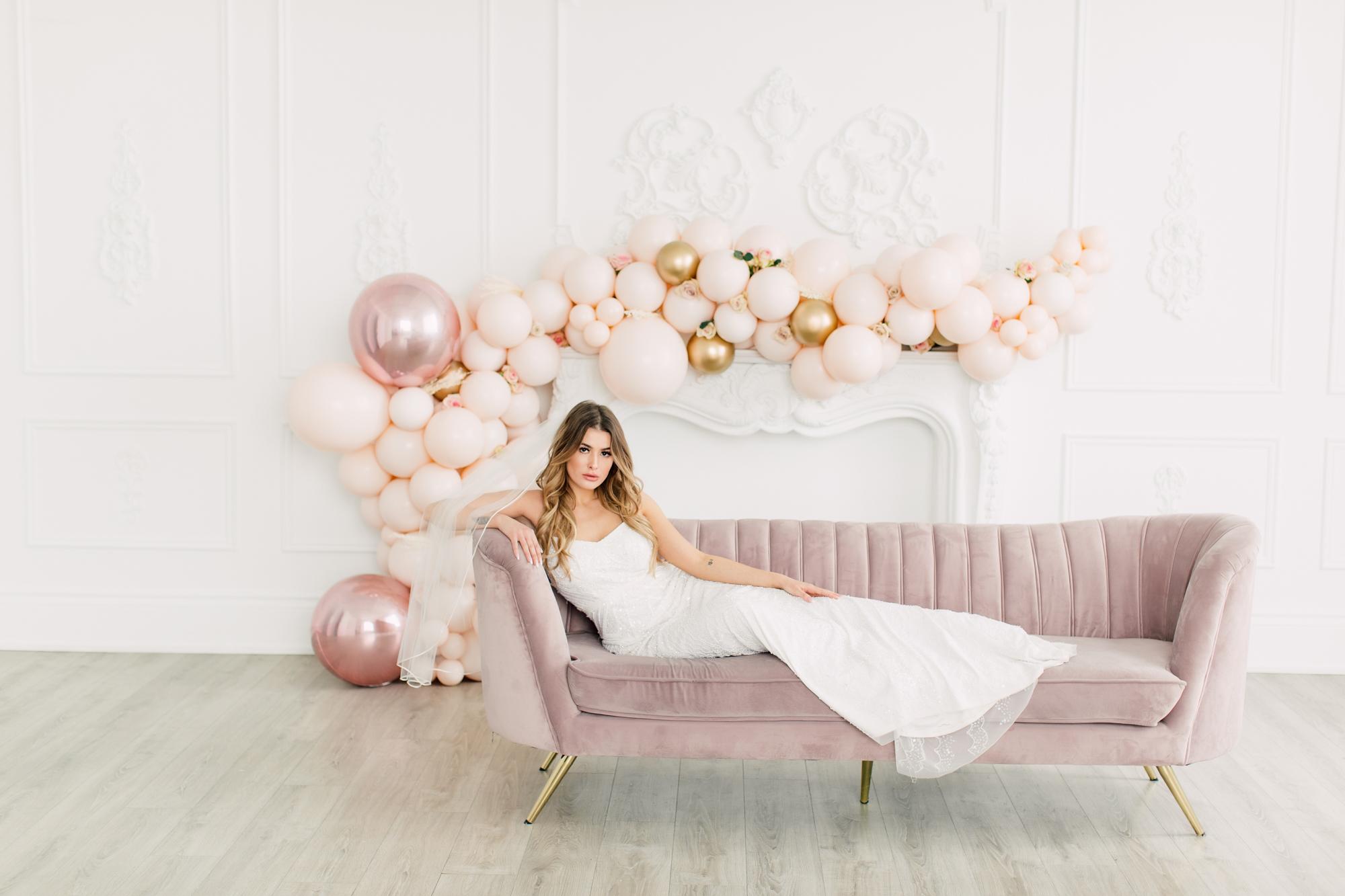 pink sofa feminine