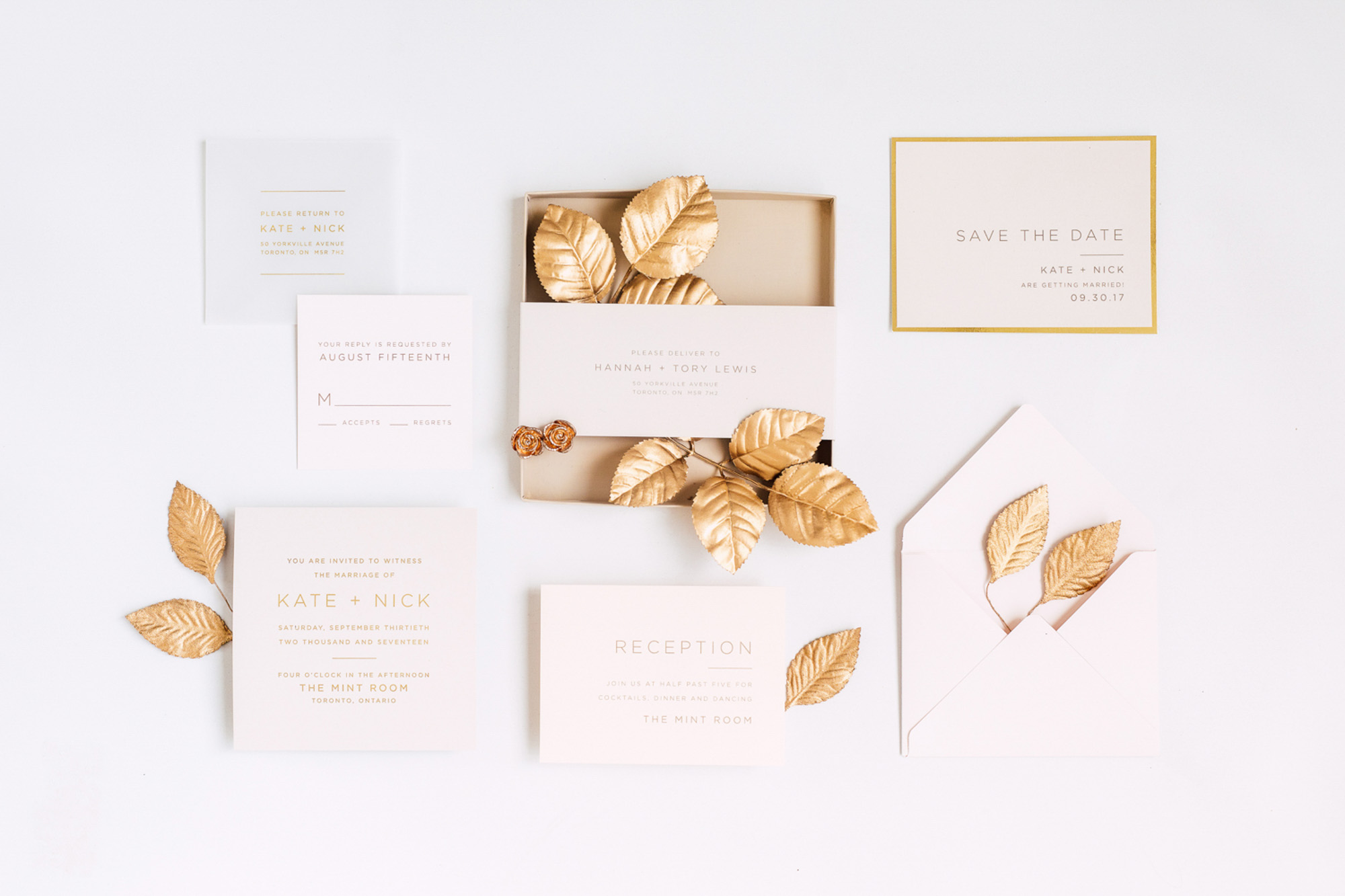 invite invitations gold accents