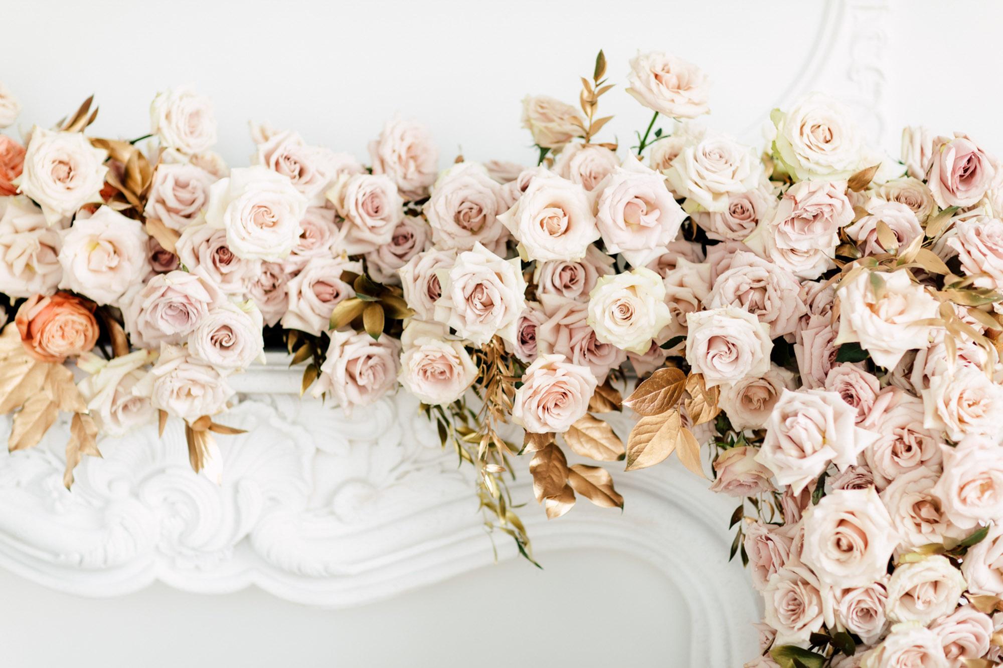 pink blush tones florals