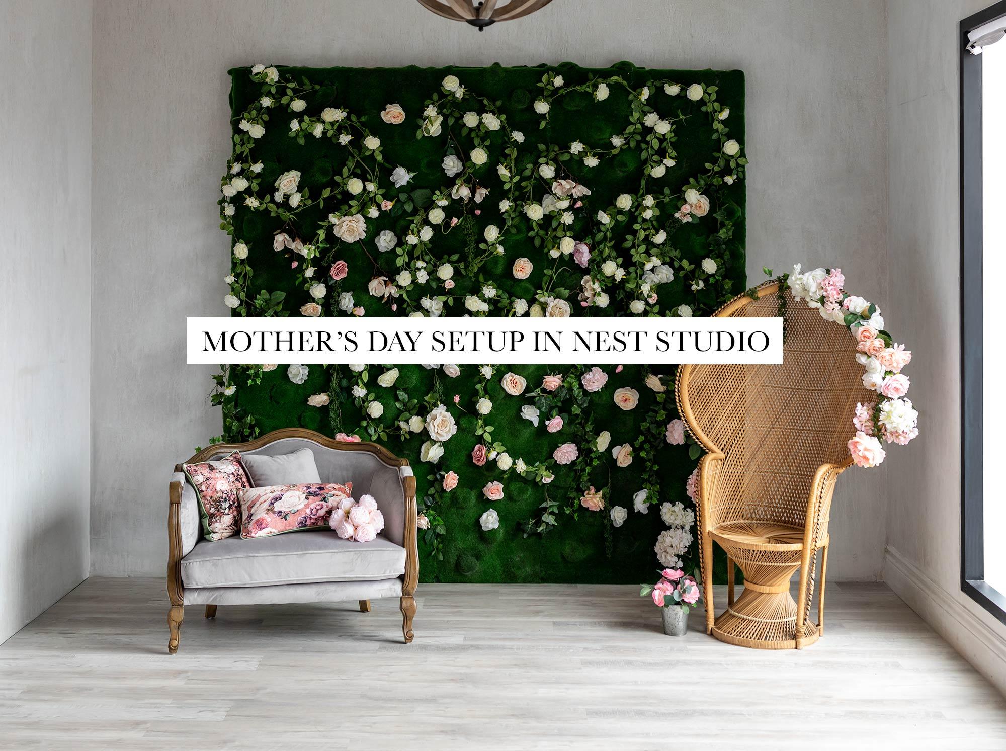 Studio Setup for Mother's day