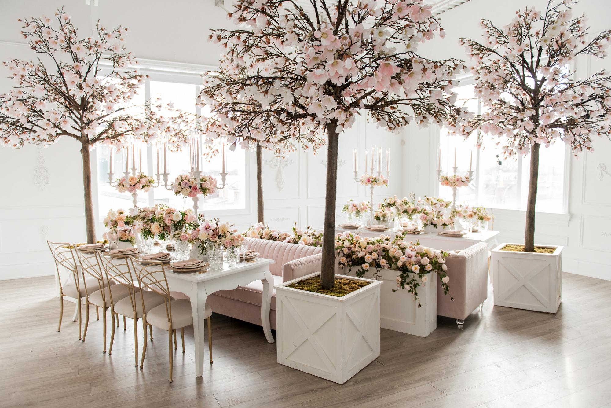 cherry blossom planters