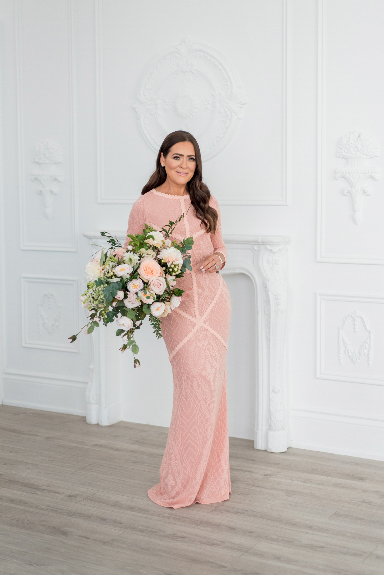 pink dress elegance