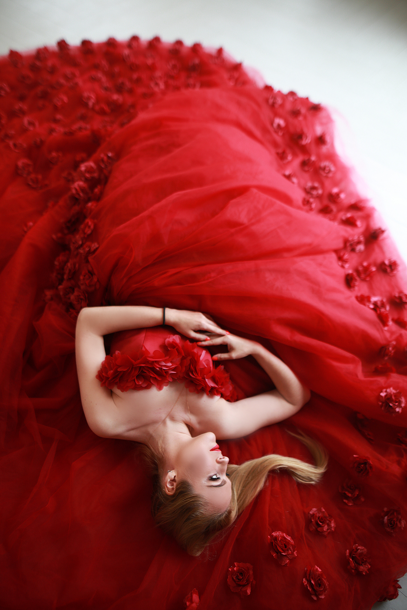 vibrant gown couture