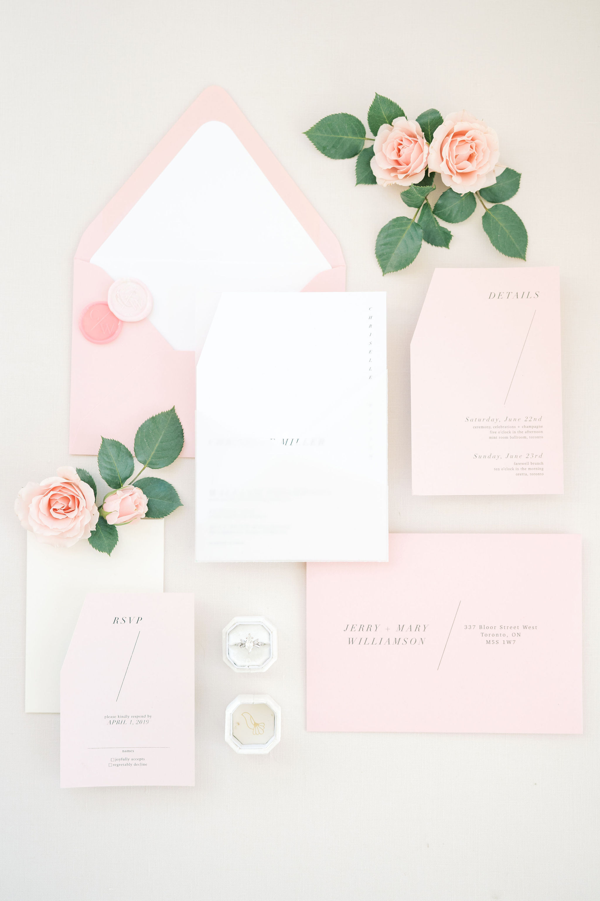 Detailed Wedding Invitations