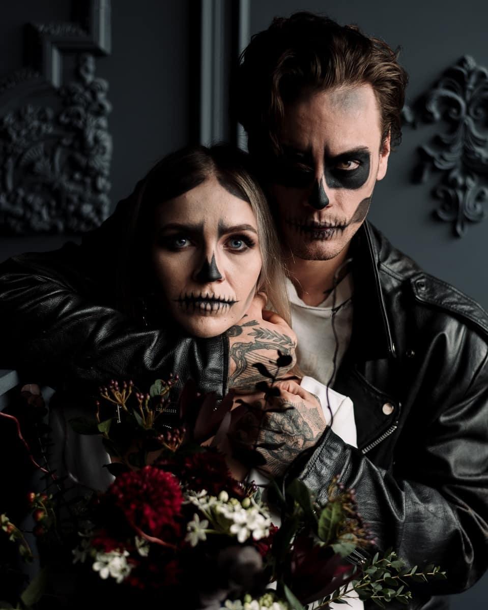 Skeleton Halloween Couple Photoshoot