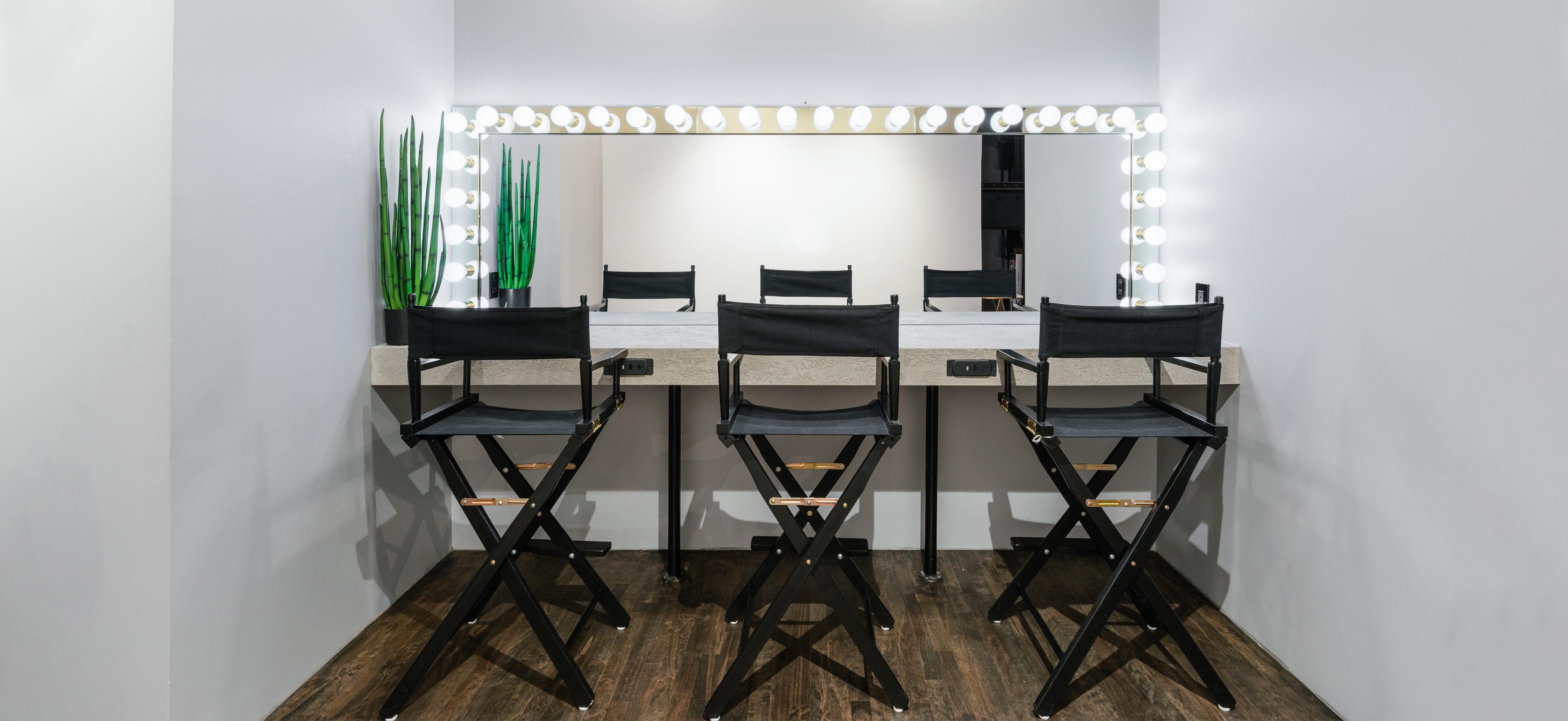 Makeup tables at Preto loft