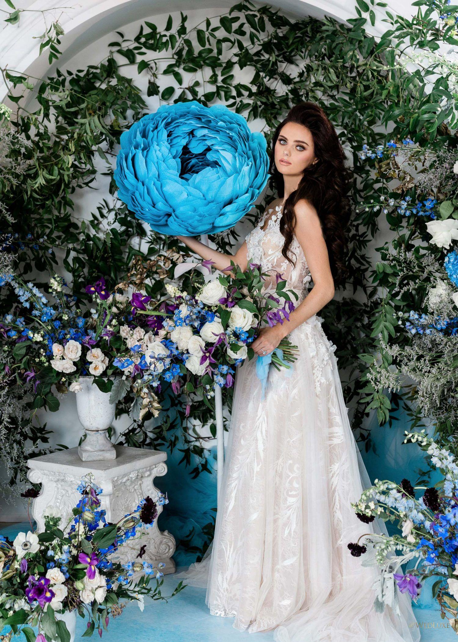 Blue Flower Styled Bridal Shoot