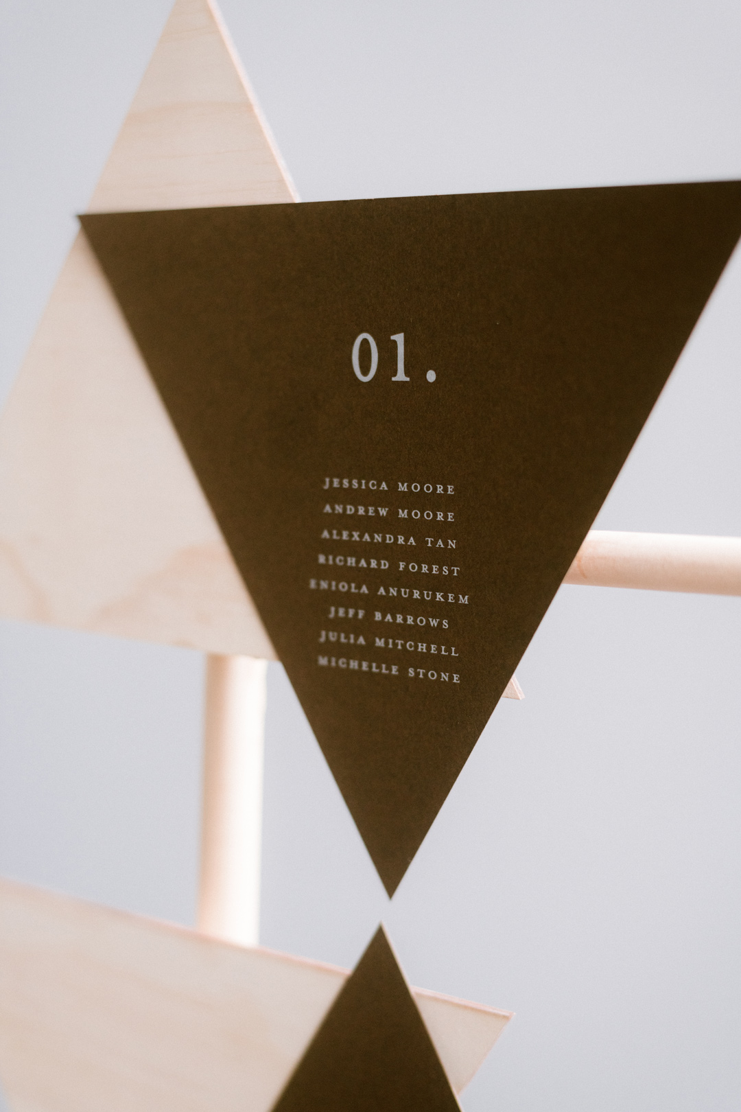Wedding Guest Registry Triangle Brown Card