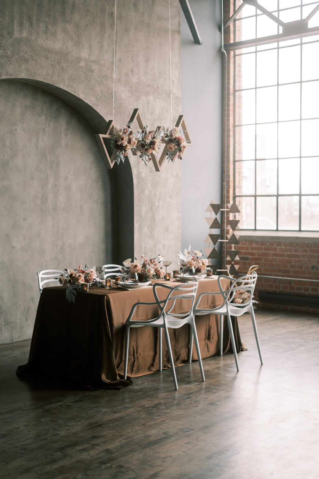 Wedding Table Decor for four people with floating installation